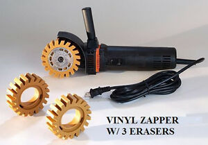 MBX ELECTRIC VINYL ZAPPER GRAPHIC DECAL PINSTRIPE REMOVER W/ 3 ERASERS