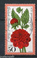 ALLEMAGNE BERLIN, 1976 timbre 490, FLEURS, DAHLIA, oblitéré