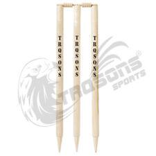 Trqsons Cricket Stumps Wood Wicket Pro Plus Finest Quality
