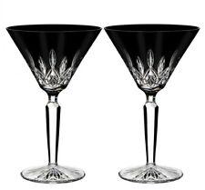 Waterford Crystal Lismore Black Martini Set of 2 Glasses 40026284 New