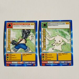 Digimon Terriermon Gargomon Fox Kids Premiere Promo Karten TCG Trading Cards Bo
