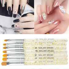7X Acrylic Nail Art Brush Painting Design Pen Builder Drawing Gel Tip Durable