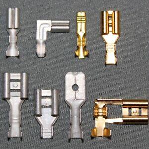 Flachsteckhülsen Steckverbinder, blank, Kabelschuhe, Hülse 2,8mm 4,8mm 6,3mm