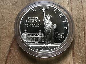 1986 Proof Statue Of Liberty Centennial Commemorative 90% Silver Dollar