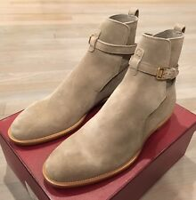 1,000$ Bally Hobston Tan Suede Ankle Boots Size US 12 Made in Switzerland