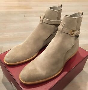 1,000$ Bally Hobston Tan Suede Ankle Boots Size US 12.5 Made in Switzerland