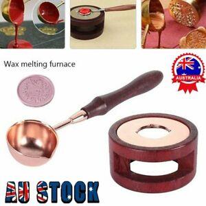 Wax Seal Kit Warmer Melting Spoon Kit Sticks Furnace Tool for Sealing Stamp  KC