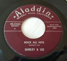 Shirley & Lee: Rock All Nite / Don't You Know I Love You 45 Doo Wop Vinyl Record