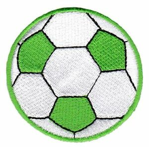 Bf69 Football Ball Green Sew-On Iron-On Football Sport Patches 2 3/16x2 3/16in