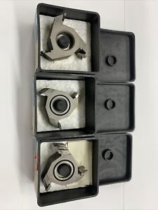 Lot Of 3 - Delta Or Rockwell 43-933 Drawer Joint carbide tipped Shaper Cutter