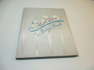 Vtg 1950s GIBSON-NORWALK Album Baby Boy Keepsake Book Scrapbook Blue Rayon New