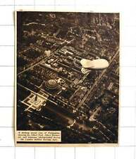 1939 Striking Aerial View Of Kensington, Albert Hall Memorial, Barrage Balloon