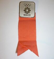 1984 Winter Olympics Sarajevo Yugoslavia OFFICIAL Participant Badge with ribbon