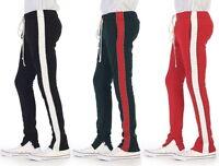 EPTM Epitome Mens Contemporary Techno Side Zip Long Drawstring Pipin Track Pants