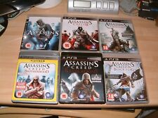 ASSASSINS CREED 1 + 2 II + 3 III + BROTHERHOOD + REVELATIONS + BLACK FLAG  PS3