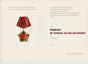 Original Urkunde Kampforden der NVA DDR