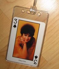 Patsy Cline Luggage Tag - Vintage 1980's Country Music Western Playing Card Tag