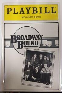 1987 Playbill Broadway Bound Linda Lavin Jonathan Silverman Broadhurst Theatre