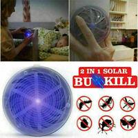 Solarenergie Insektenvernichter UV-Licht Mückenkiller Fliegenfalle Insekten W9B3
