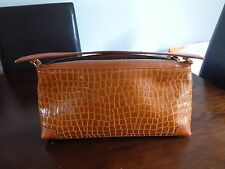 STUNNING TAN LEATHER   JAEGER BAG (UNUSUAL DESIGN)