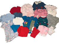 80s/90s Lot 10+ Girls Vintage Baby Toddler Clothes Jumpers Rompers Outfits 18M
