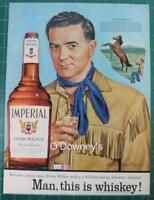 Vintage ad 1956 Imperial Hiram Walker Whiskey Louis L'Amour Richard Dean Taylor
