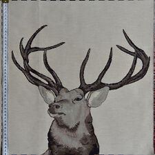 Woven Stag Cushion Panel - Quality Heavy Jaquard Fabric