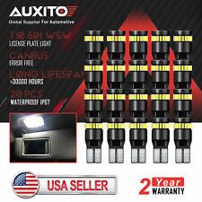 20x AUXITO Error Free Canbus T10 194 168 24SMD 2825 LED Light Bulb Xenon White