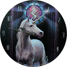Wanduhr Enlightenment Anne Stokes 34cm Bilderuhr UHR Fantasy Clock Mystik Gothic