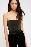 New Free People Intimate Seamless  Strapless Sparkle Tube Top Glittery Xs-L $30