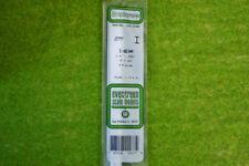 """Evergreen I-beam Estireno Blanco plasticard 1/4"""" #277"""