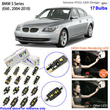 17 Bulbs Deluxe LED Interior Dome Light Kit Xenon White For E60 BMW 5 Series