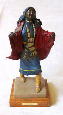 "TOM KNAPP Signed Painted Cast Bronze Sculpture - ""Shawl Dancer, Northern Plains"""
