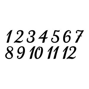 """TABLE NUMBERS 3"""" Vinyl Decal Stickers - Wedding Seating Reception Rehearsal"""