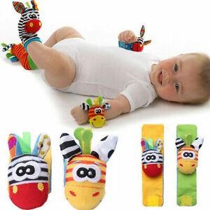 Baby Hand Wrist Strap Handbells Animal Socks Soft Rattles New Toys
