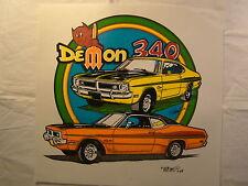 "Demon 340 Dodge Yellow Orange 12"" X 12"" T Shirt Iron On Heat Thermal Transfer"
