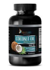 Organic Coconut Oil for Skin 3000mg Extra Virgin Non-GMO 1 Bottle, 60 Softgels