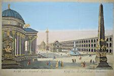 ROME DANS SA SPLENDEUR ANCIENNE Gravure VUE OPTIQUE Italie Splendor XVIII°