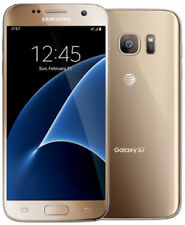 "New Samsung Galaxy S7 G930a AT&T 4G GSM 32GB Android Smartphone 5.1"" 12MP Gold"