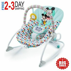 Bright Starts Disney Baby Mickey Mouse Infant to Toddler Rocker Seat -New In Box