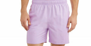 Swim shorts mens size 3XL new polyester shell & lining lavender George pockets
