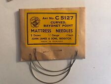 4 Inch Curved Mattress Needles Serpent Brand 17 Gauge England