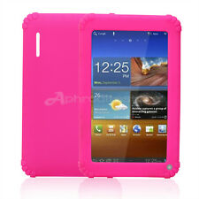 "Custodia Cover Case per 7"" Tablet PC Android Colore Rosa in Silicone Morbido"