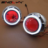 LED Angel Eyes Devil Eye Car Projector Lens Bi-xenon Headlight DRL Auto Tuning