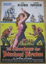 Filmplakat  EA  A1  Die Abenteuer der Totenkopfpiraten / Il terrore dei mari