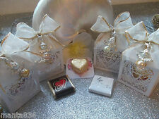 Favours-Heart Box-with Chocolate-Angel Pendant-Rhinestone-Wedding Christening