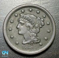 1854 Braided Hair Large Cent --  MAKE US AN OFFER!  #B6240