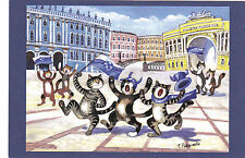 Zenit Champion Cats Fans Saint-Petersburg by Rodionova Russian modern postcard