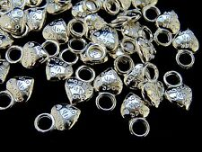 30 Pcs -  Tibetan Silver Made With Love Charms 14mm Craft Jewellery  G76