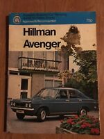 Hillman Avenger Manual from 1970 onwards